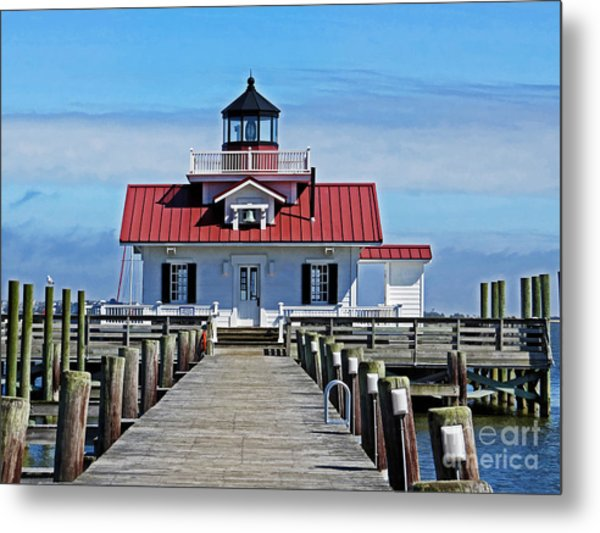 The Roanoke Marshes Lighthouse  Metal Print