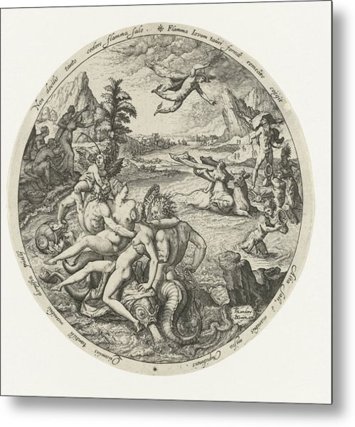 The Robbery Of Europe, Jacob De Gheyn II Metal Print