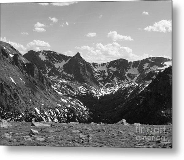 The Rockies Monochrome Metal Print