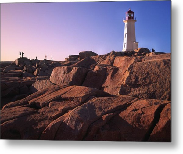 The Rocks At Peggy's Cove Metal Print