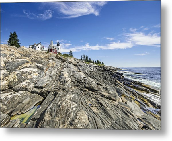 The Rocks At Pemaquid Point Maine Metal Print