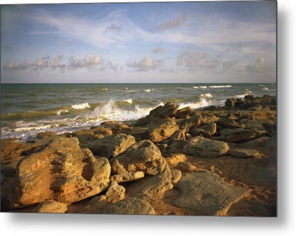 The Rocks Iv. Flagler County. Metal Print