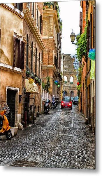 The Roman Colosseum Street View - Colosseum Metal Print