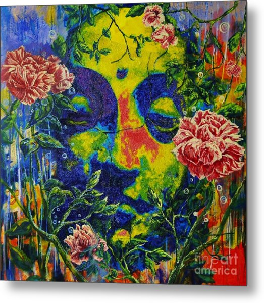 The Rose Arbor Metal Print