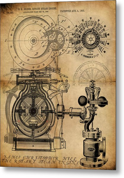 The Rotary Engine Metal Print