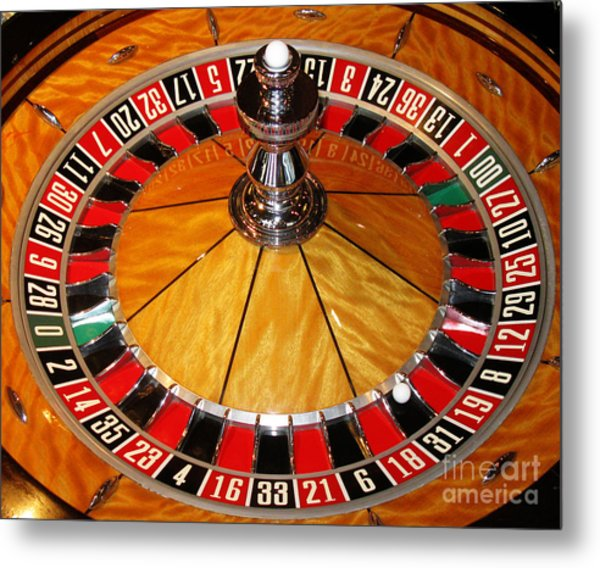 The Roulette Wheel Metal Print