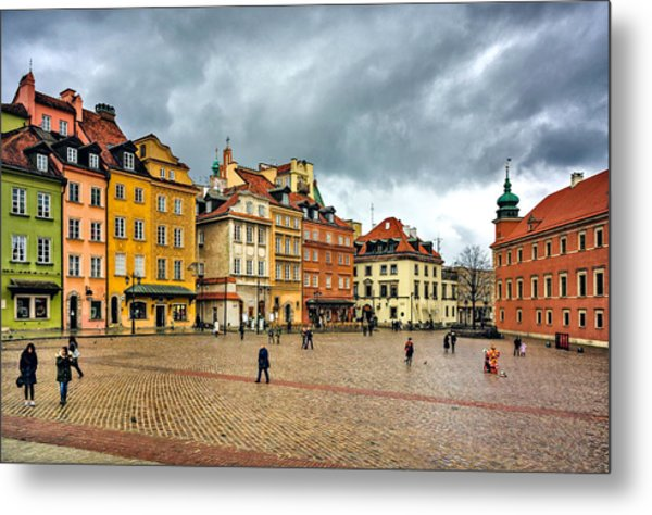 The Royal Castle Square Metal Print