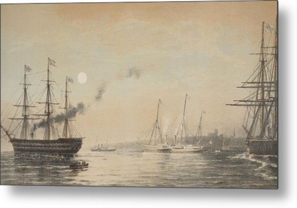 The Royal Yacht Off Margate Evening Metal Print