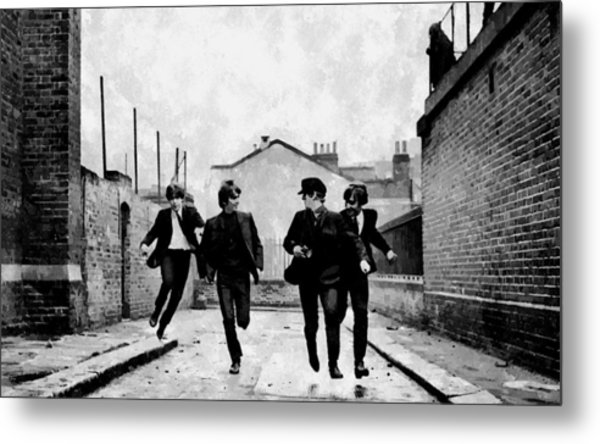 The Running Beatles Metal Print