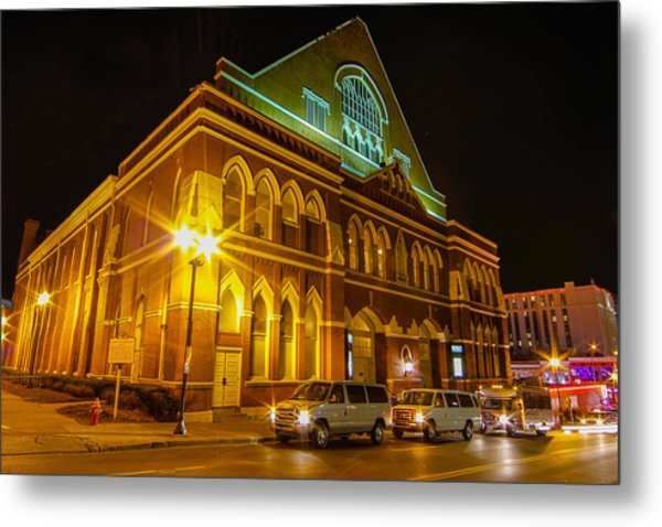 The Ryman At Night Metal Print