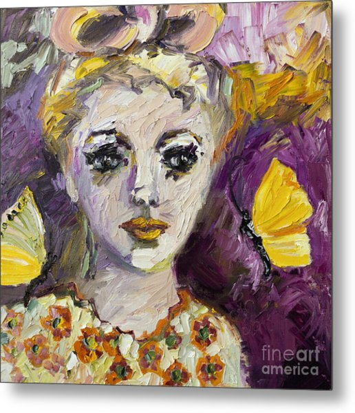The Sadness In Her Eyes Metal Print