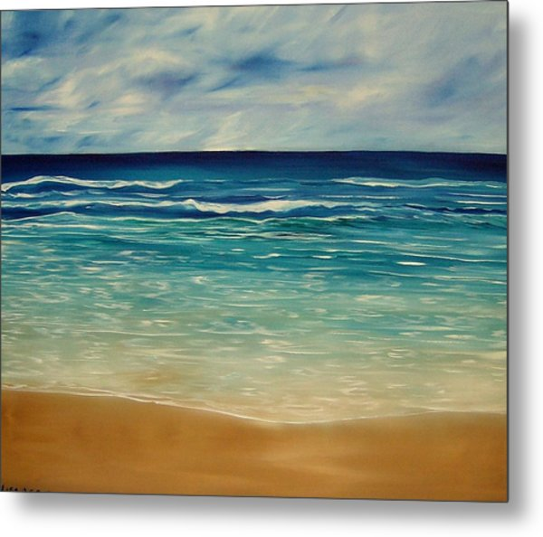 The Sand And The Tide Metal Print