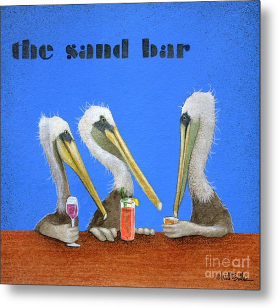 The Sand Bar... Metal Print by Will Bullas