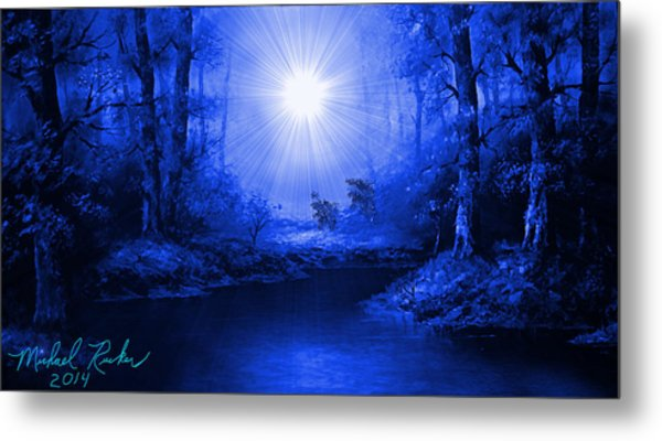 The Sapphire Forest Metal Print