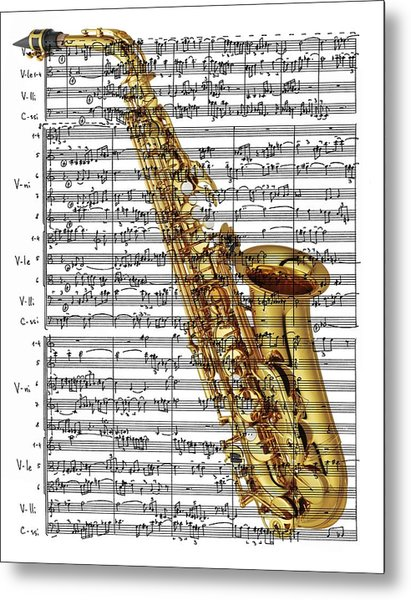 The Saxophone Metal Print