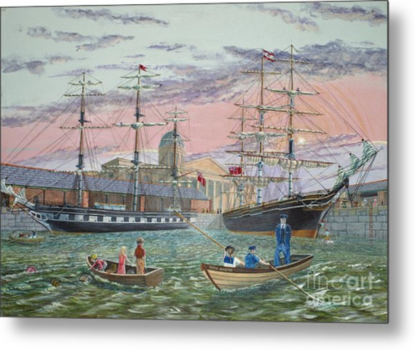 The Scamps Of Canning Dock Metal Print
