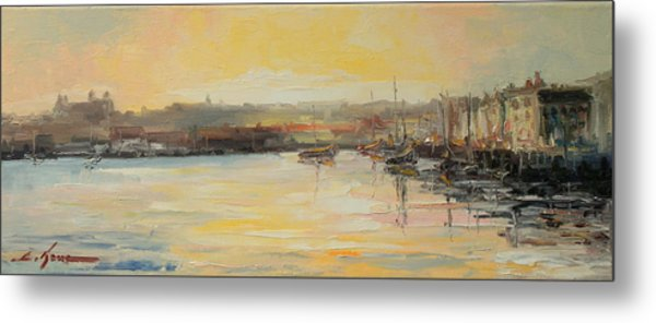 The Scarborough Harbour Metal Print