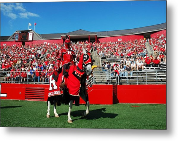 The Scarlet Knight And His Noble Steed Metal Print