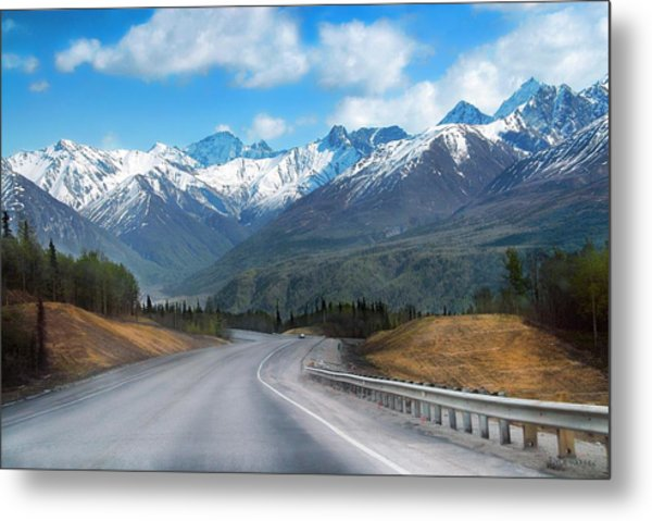 The Scenic Glenn Highway  Metal Print