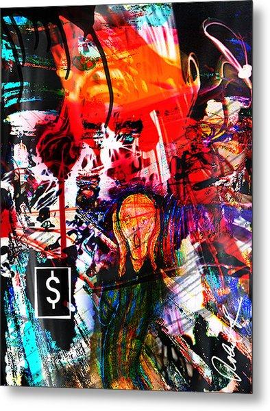 The Scream Flat Broke 2012 - Huge Signed Art Abstract Paintings Modern Www.splashyartist.com Metal Print