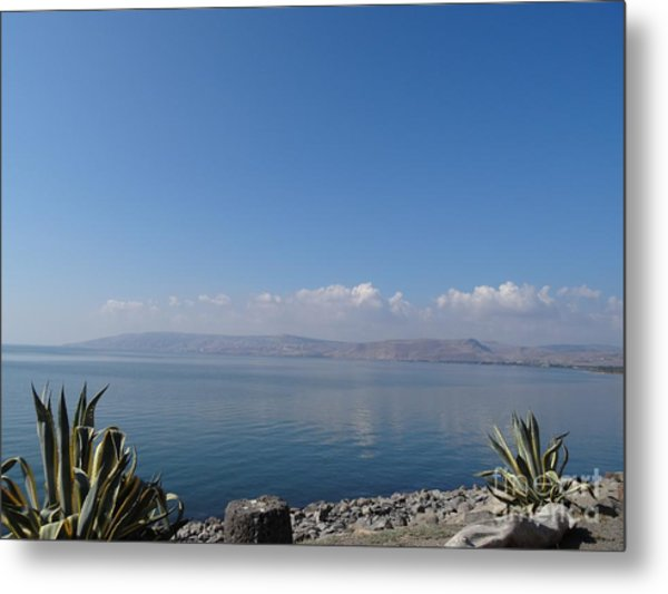 The Sea Of Galilee At Capernaum Metal Print