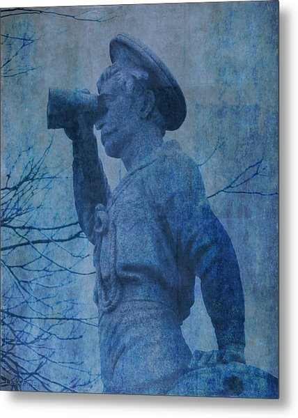 The Seaman In Blue Metal Print