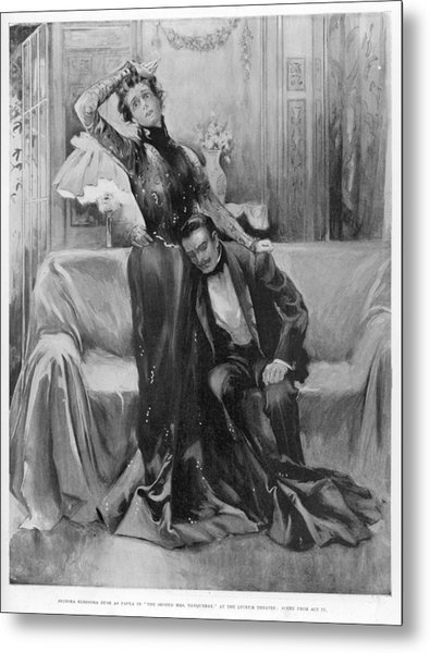 The Second Mrs Tanqueray, Eleonora Duse Metal Print by  Illustrated London News Ltd/Mar