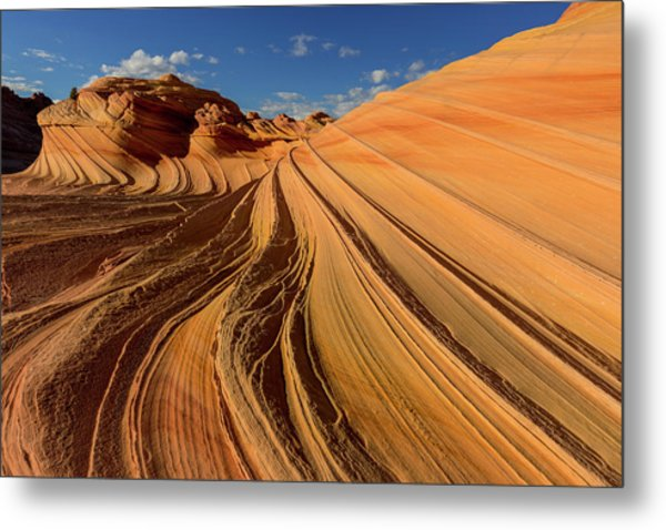 The Second Wave In The Vermillion Metal Print
