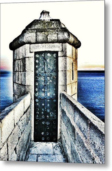 The Secret Door Metal Print