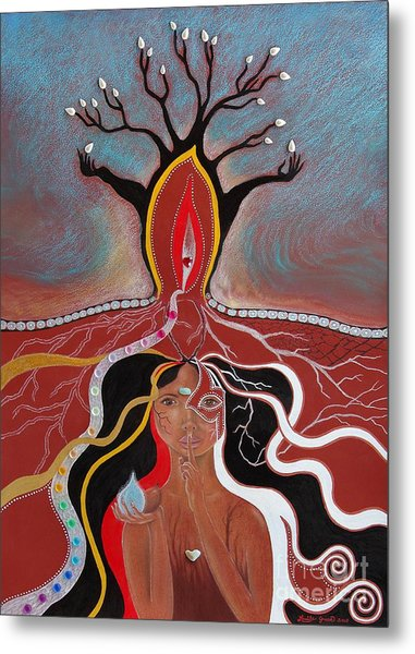 The Secrets Of Mother Earth  Metal Print by Louise Green
