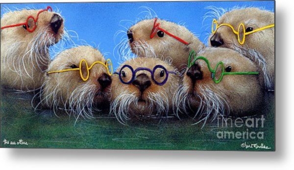 The See Otters... Metal Print