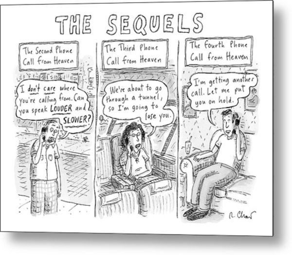The Sequels 3 Panels Parodying A Book Called Metal Print