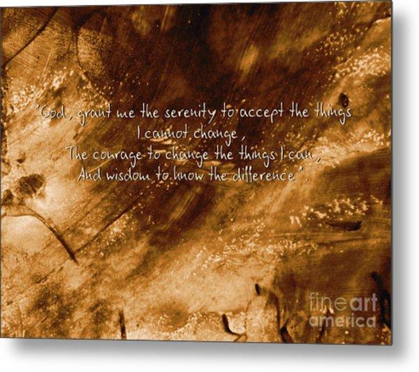 The Serenity Prayer 1 Metal Print