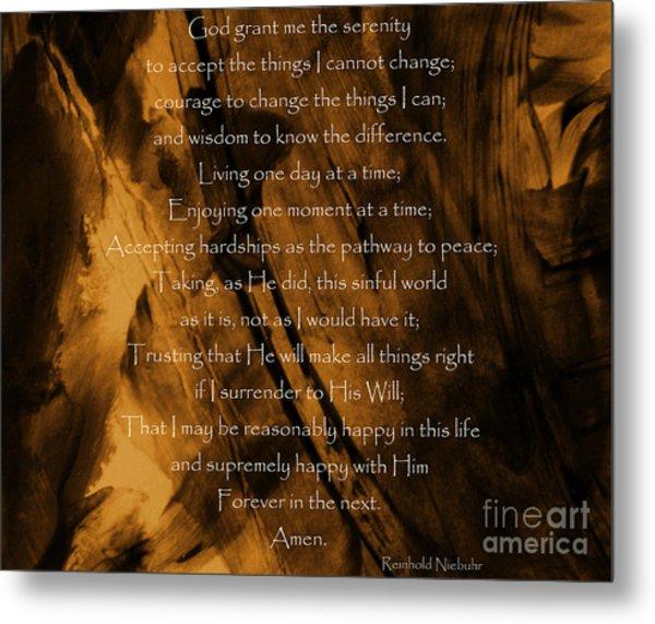 The Serenity Prayer Metal Print