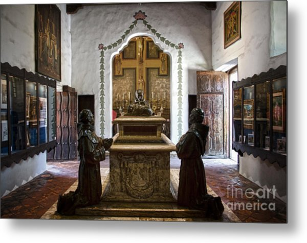 The Serra Cenotaph In Carmel Mission Metal Print