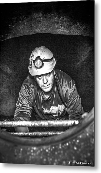 Metal Print featuring the photograph The Sewer Guy by Stwayne Keubrick