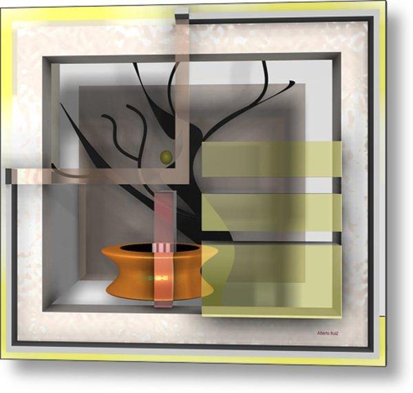 Metal Print featuring the digital art The Shade A Bonsai by Alberto  RuiZ
