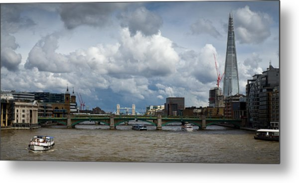 The Shard And Thames View Metal Print
