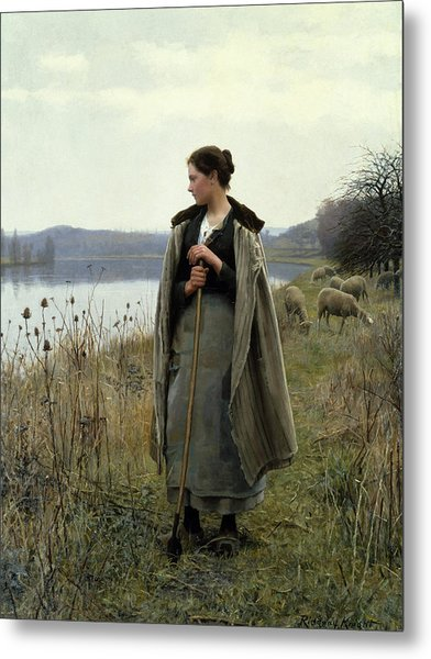 The Shepherdess Of Rolleboise Metal Print