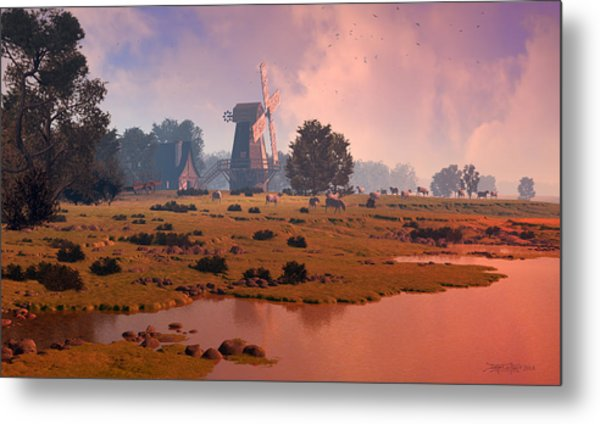 The Shepherd's Mill Metal Print