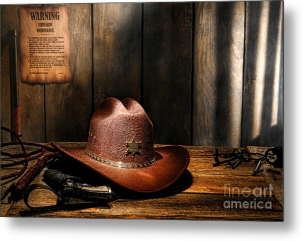Metal Print featuring the photograph The Sheriff Office by Olivier Le Queinec