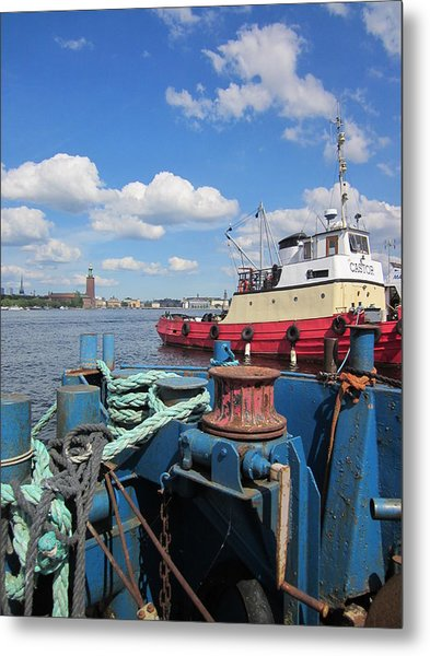 The Shipyard Metal Print