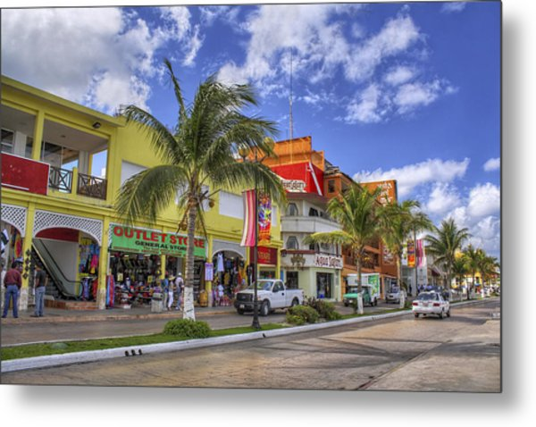 The Shops Of Cozumel Metal Print