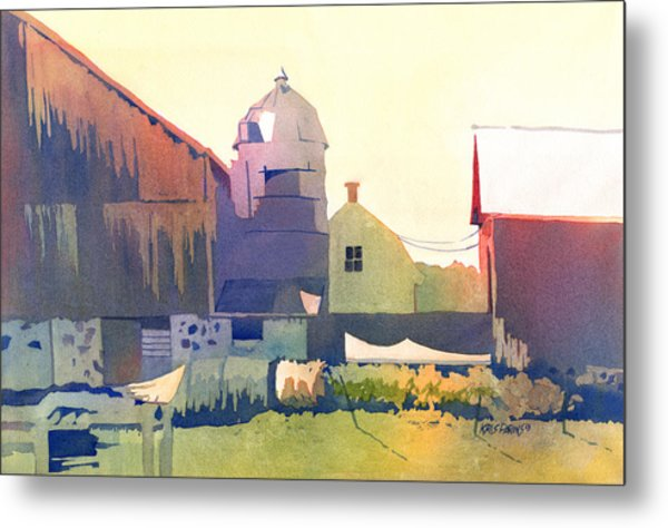 The Side Of A Barn Metal Print by Kris Parins