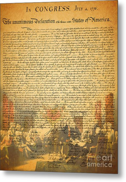 The Signing Of The United States Declaration Of Independence Metal Print