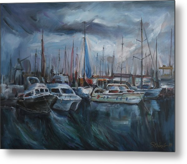 The Silent Port Metal Print