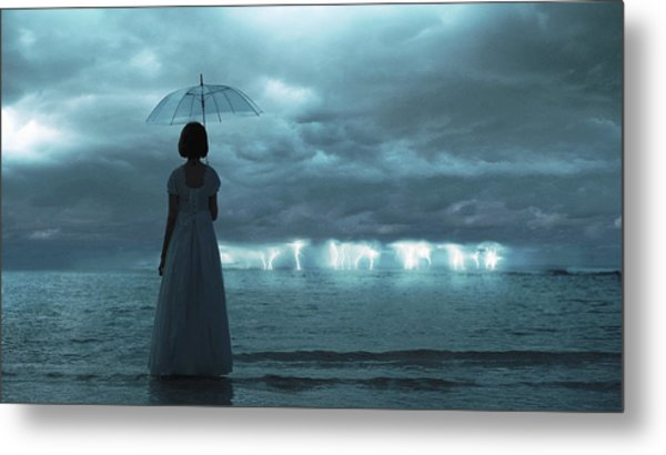 The Silent Sea Metal Print by Terry F