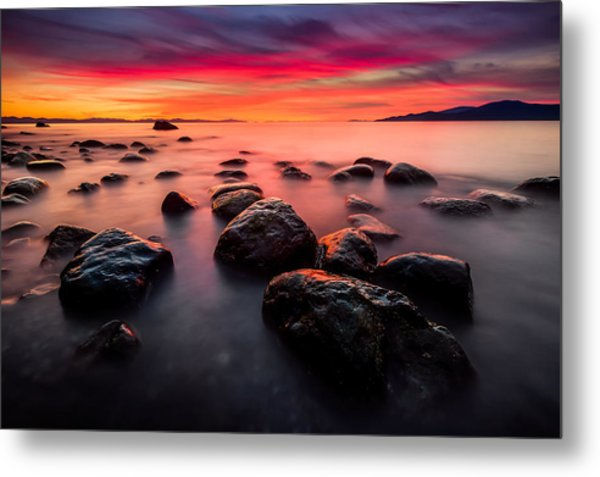 The Sky On Fire Metal Print