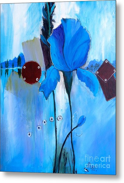 The Sound Of Blue Metal Print