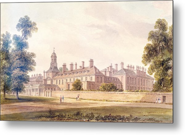 The South-west View Of Kensington Palace, 1826 Wc On Paper Metal Print